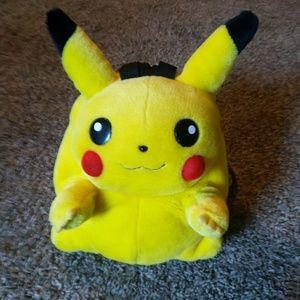 Nintendo Bags - Vintage 90s plush Pikachu backpack